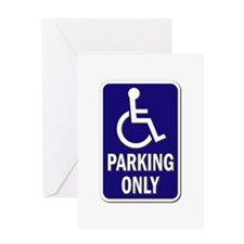 Parking Only - Sign Without Text Greeting Cards