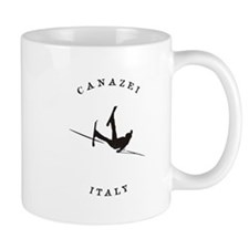Canazei Italy FunnY falling Skier Mugs