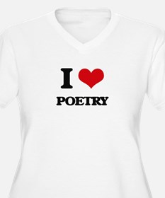 I Love Poetry Plus Size T-Shirt