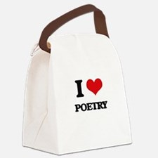 I Love Poetry Canvas Lunch Bag