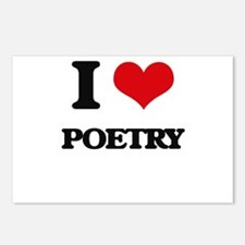 I Love Poetry Postcards (Package of 8)