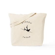 Niseko Japan Funny Falling Skier Tote Bag