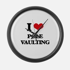 I Love Pole Vaulting Large Wall Clock