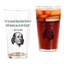 PROOF THAT GOT GOD LOVES Drinking Glass