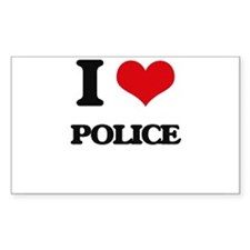 I Love Police Decal