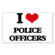 I Love Police Officers Decal