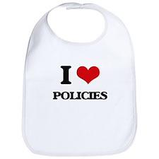 I Love Policies Bib