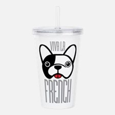 Viva La French Bulldog Acrylic Double-wall Tumbler