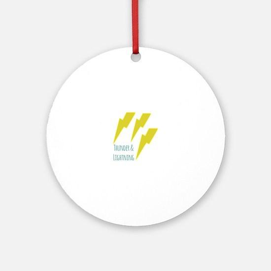 lightning_thunder and lightning Ornament (Round)