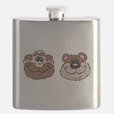 Bear And Man Flask