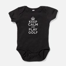 Keep Calm and Play Golf Baby Bodysuit