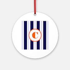 Orange C Monostripe Ornament (Round)