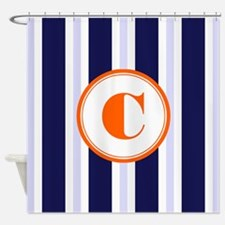 Orange And Navy Blue Shower Curtains Orange And Navy Blue Fabric Shower Cur