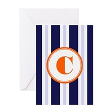 Orange C Monostripe Greeting Cards