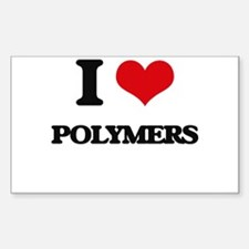 I Love Polymers Decal