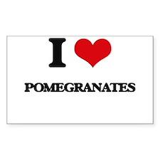 I Love Pomegranates Decal