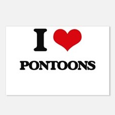 I Love Pontoons Postcards (Package of 8)