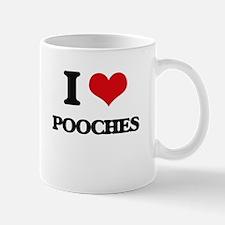 I Love Pooches Mugs