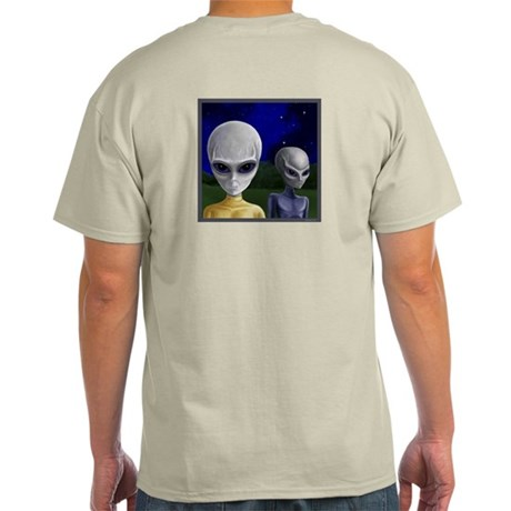 Alien Visit & UFO ~ Light T-Shirt (2 Sides)
