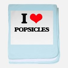 I Love Popsicles baby blanket