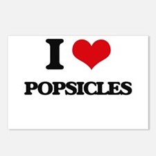 I Love Popsicles Postcards (Package of 8)