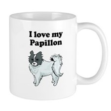 I Love My Papillon Mugs