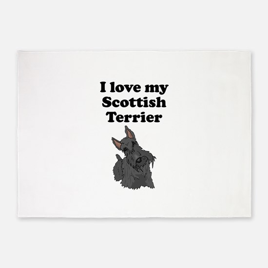 I Love My Scottish Terrier 5'x7'Area Rug