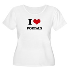 I Love Portals Plus Size T-Shirt