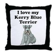 I Love My Kerry Blue Terrier Throw Pillow