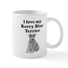 I Love My Kerry Blue Terrier Mugs