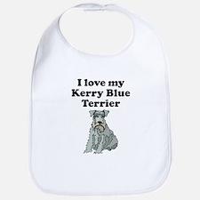 I Love My Kerry Blue Terrier Bib