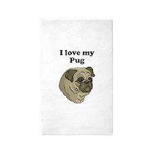 I Love My Pug Area Rug