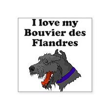 I Love My Bouvier des Flandres Sticker