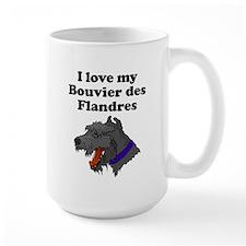I Love My Bouvier des Flandres Mugs