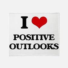 I Love Positive Outlooks Throw Blanket