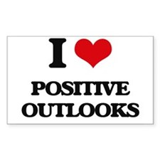 I Love Positive Outlooks Decal