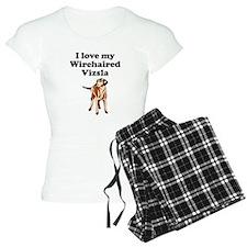I Love My Wirehaired Vizsla Pajamas
