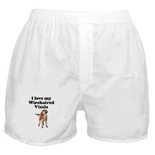 I Love My Wirehaired Vizsla Boxer Shorts