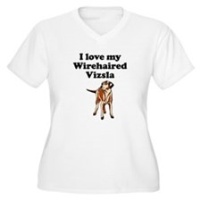 I Love My Wirehaired Vizsla Plus Size T-Shirt