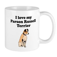 I Love My Parson Russell Terrier Mugs