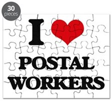 I Love Postal Workers Puzzle