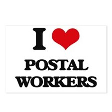 I Love Postal Workers Postcards (Package of 8)