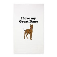 I Love My Great Dane Area Rug