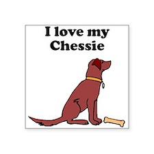 I Love My Chessie Sticker