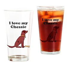 I Love My Chessie Drinking Glass