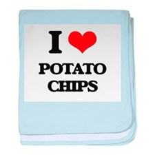 I Love Potato Chips baby blanket