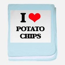 I Love Potato Chips baby blanket