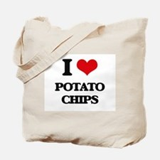 I Love Potato Chips Tote Bag