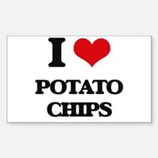 I Love Potato Chips Decal