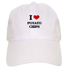 I Love Potato Chips Baseball Cap
